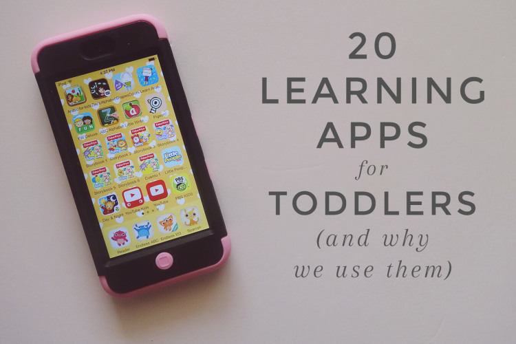 20 learning apps for toddlers.